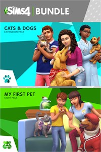 Carátula del juego The Sims 4 Cats and Dogs Plus My First Pet Stuff Bundle