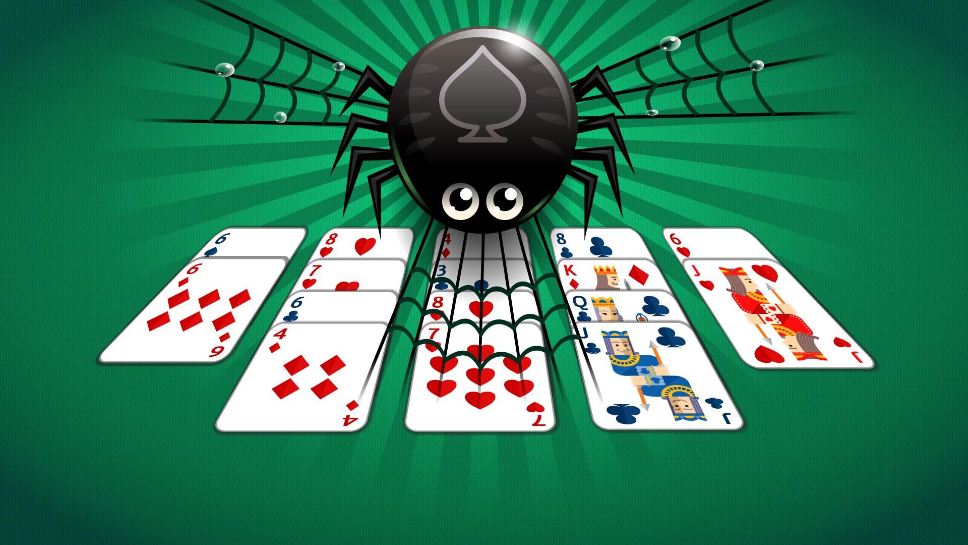 Карты пасьянс паук играть 4 масти бесплатно онлайн масти как в виндовс
