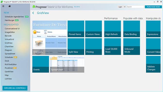 Get Telerik UI for WinForms Examples - Microsoft Store