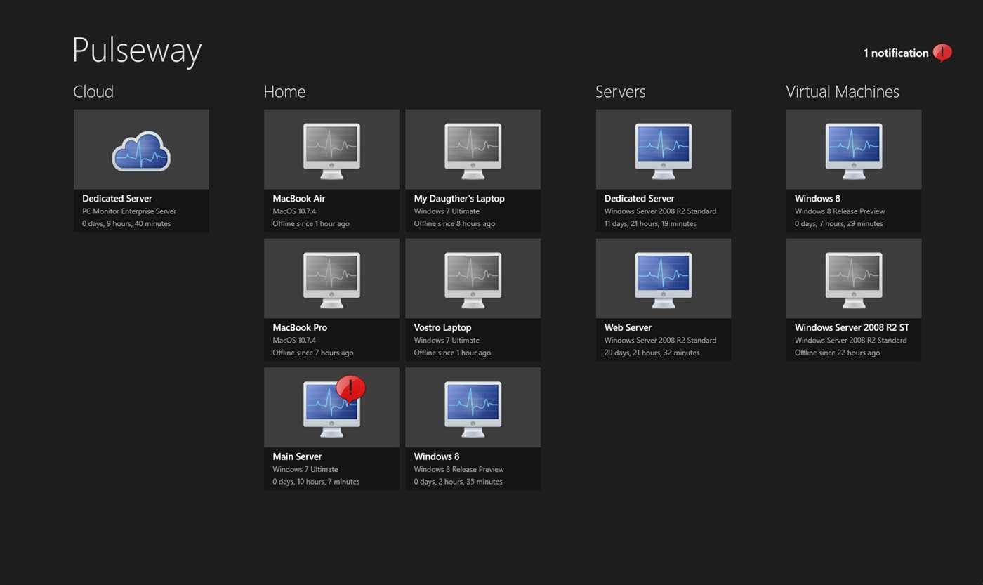 PC Monitor for Win8 UI full screenshot
