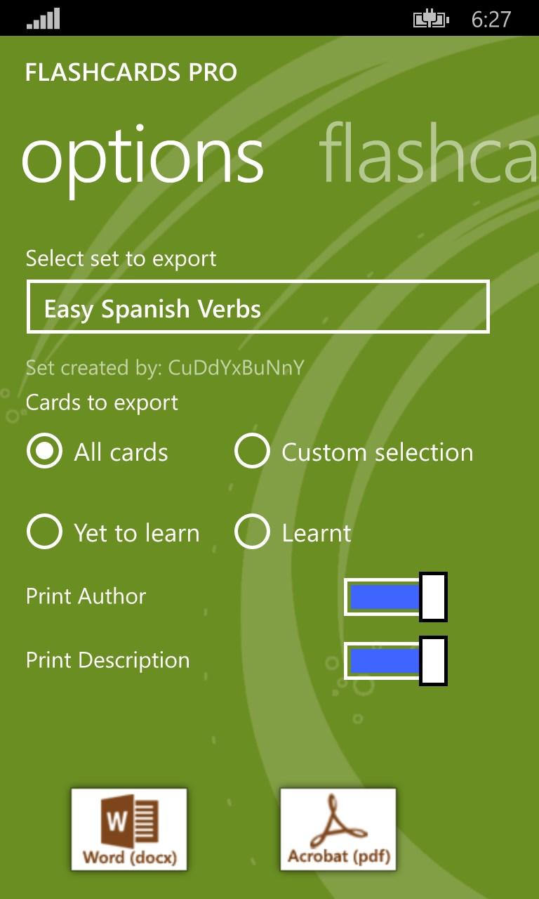 Flashcards Pro