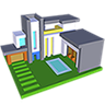Modern House 3D Color by Number - Voxel Coloring