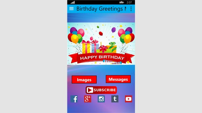 Get Birthday Greetings Messages