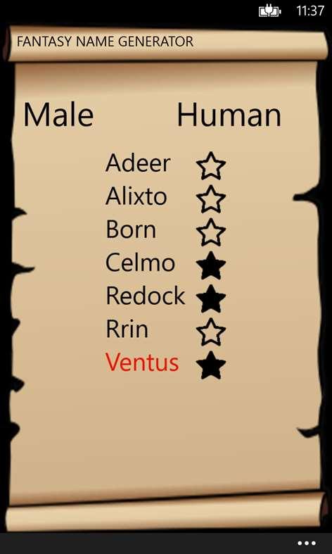 Fantasy Names