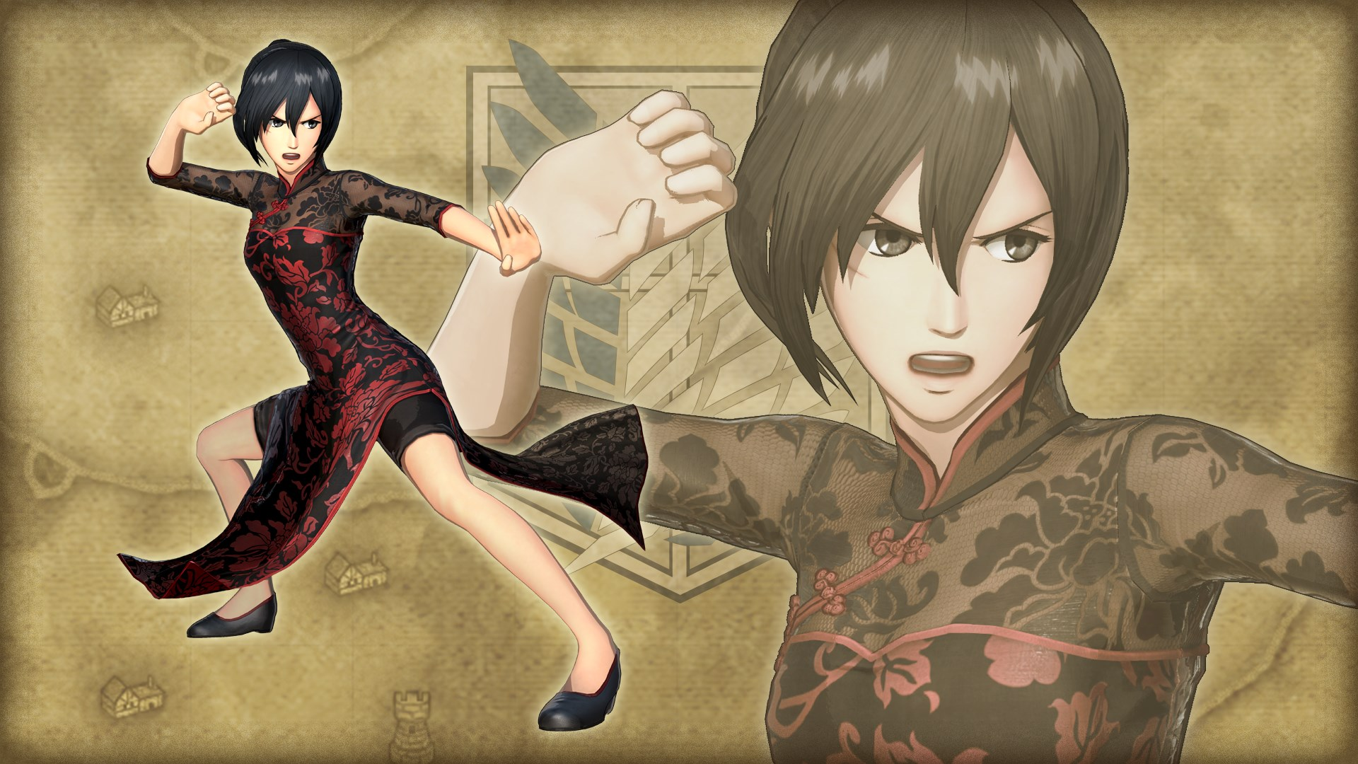Costume supplémentaire pour Mikasa, robe chinoise