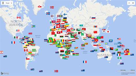 Comprar world countries factbook microsoft store es sv captura de pantalla world countries and islands identified by their flags in the map gumiabroncs Choice Image