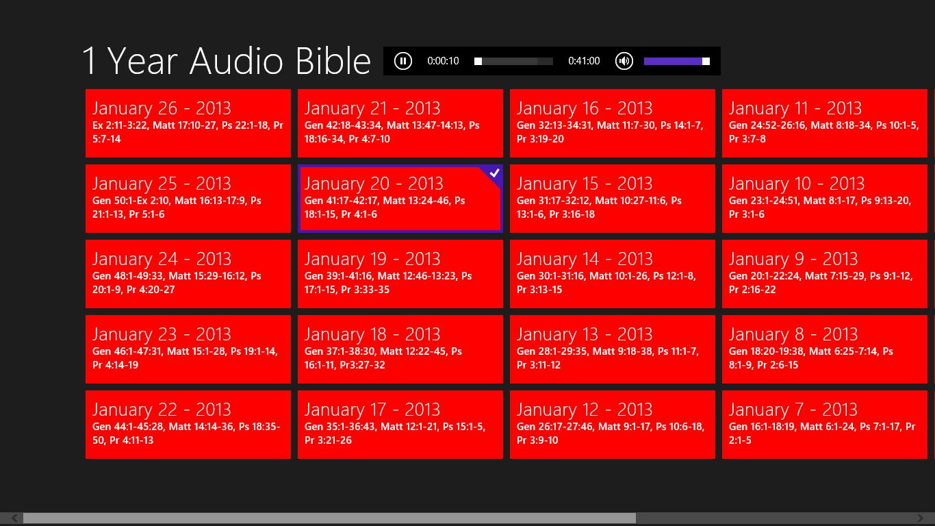 1 Year Audio Bible