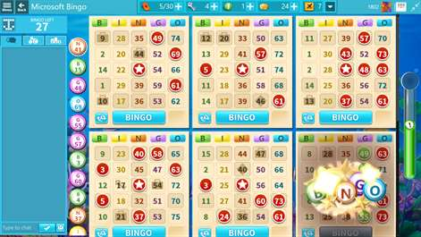Microsoft Bingo Screenshots 1