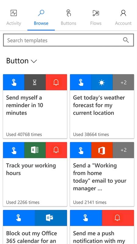 Microsoft Flow Screenshot