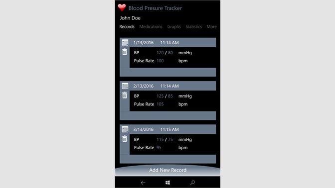 get blood pressure tracker microsoft store