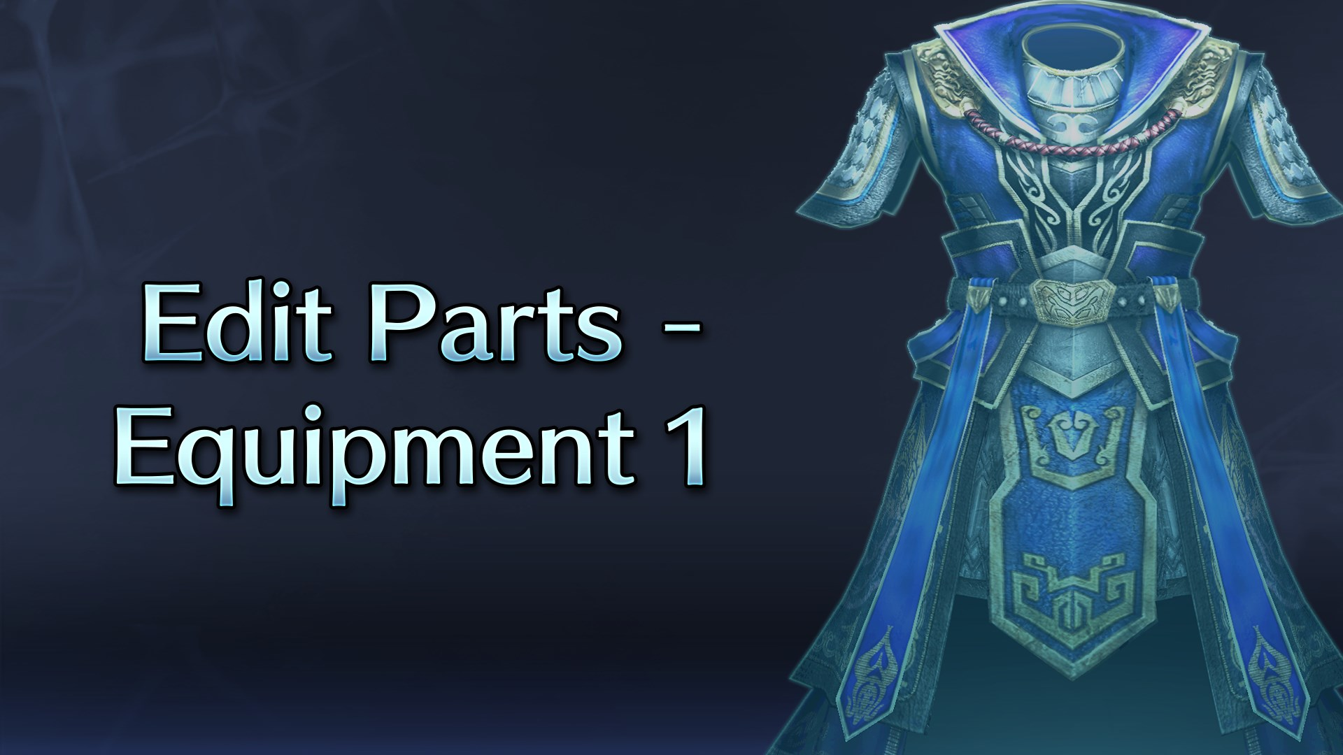 Edit Parts - Equipment 1
