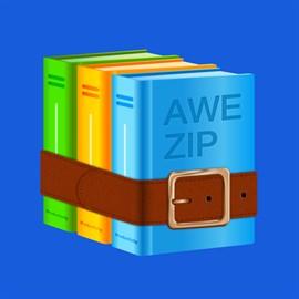 Get Awe Zip: rar, zip, 7zip, 7z, gzip archiver opener for free
