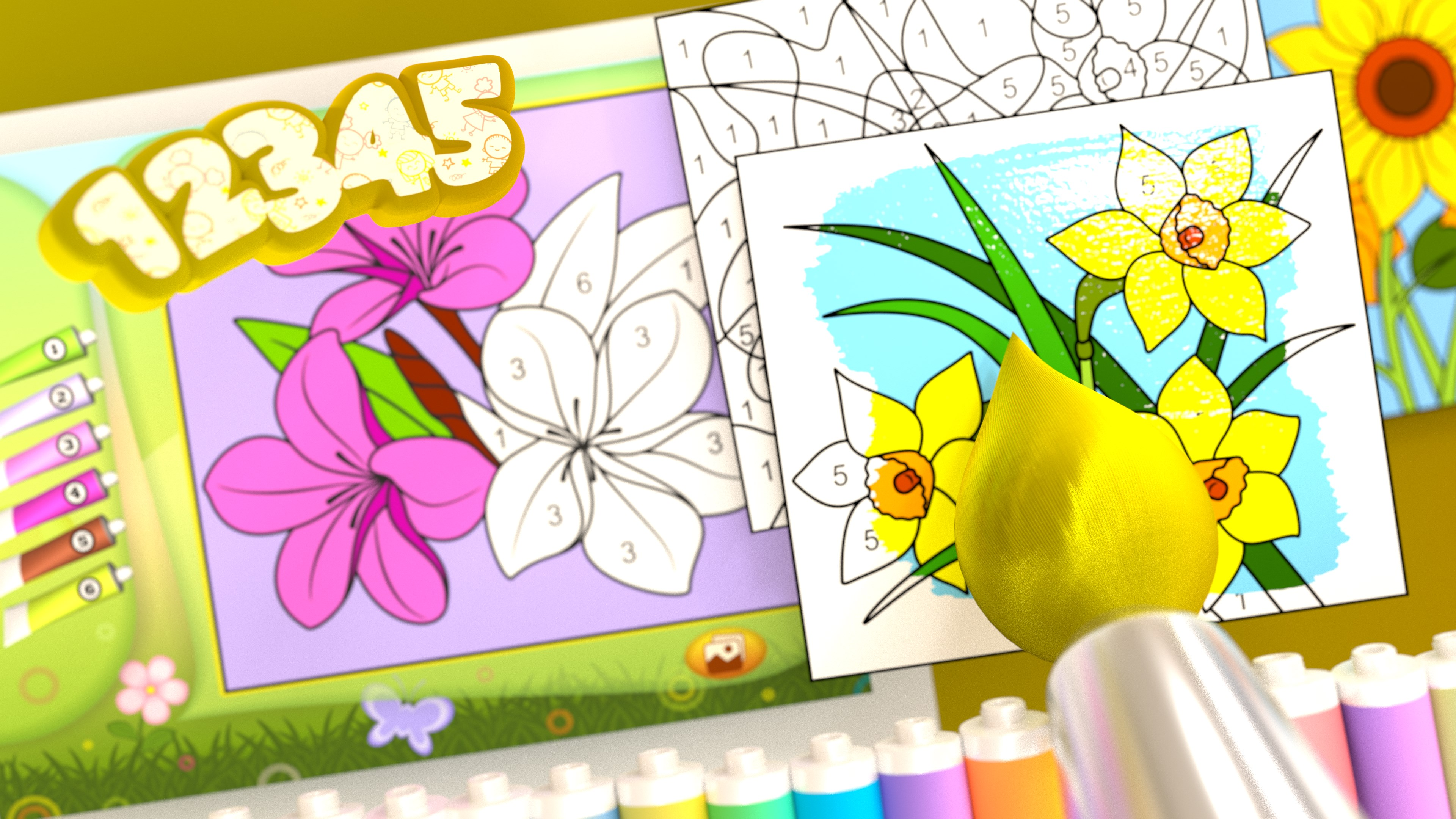 Buy Flowers - Color by Numbers + - Microsoft Store