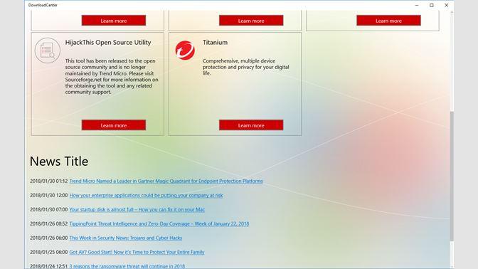 Get Trend Micro Download Center - Microsoft Store