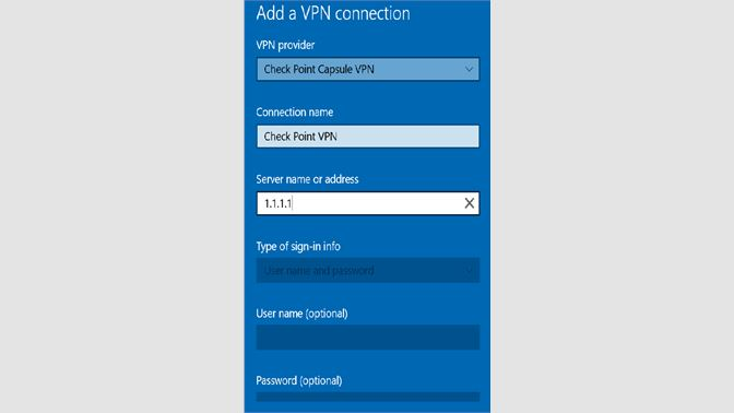 download checkpoint vpn client