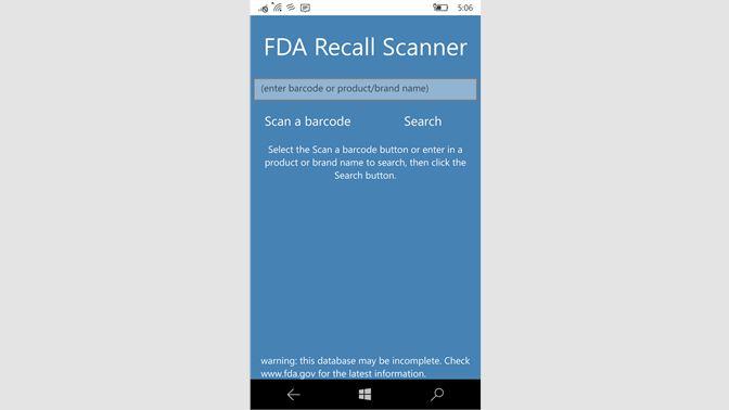 Get FDA Recall Scanner - Microsoft Store