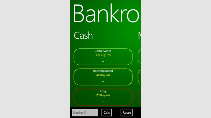 Get Bankroll Calculator - Microsoft Store