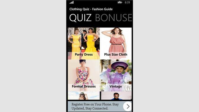 Get Clothing Quiz Fashion Guide Microsoft Store