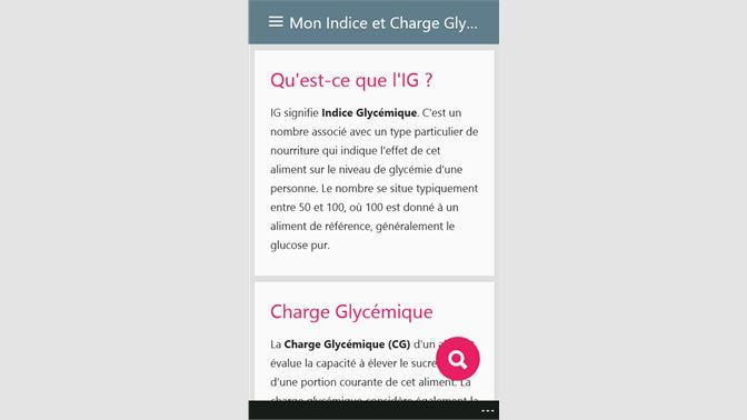 Obtenir Indice Et Charge Glycemique Ig Microsoft Store Fr Ca