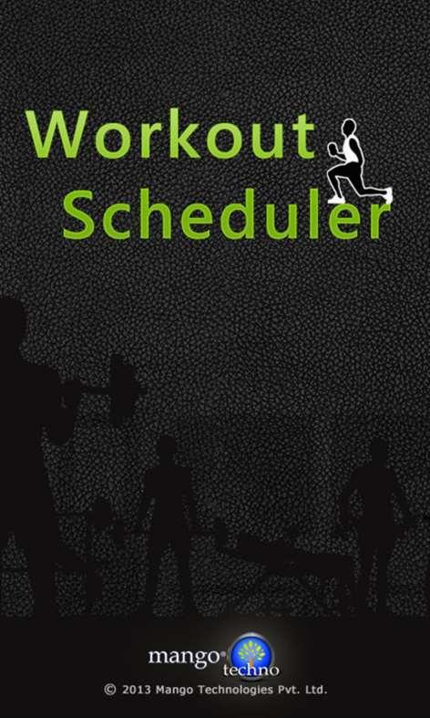 Workout Scheduler Screenshots 1