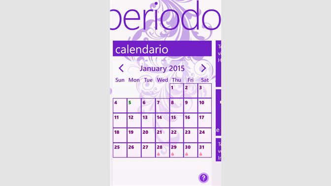 Il Mio Calendario.Acquista My Period Tracker Calendar Microsoft Store It It