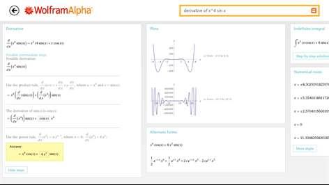 WolframAlpha Screenshots 2