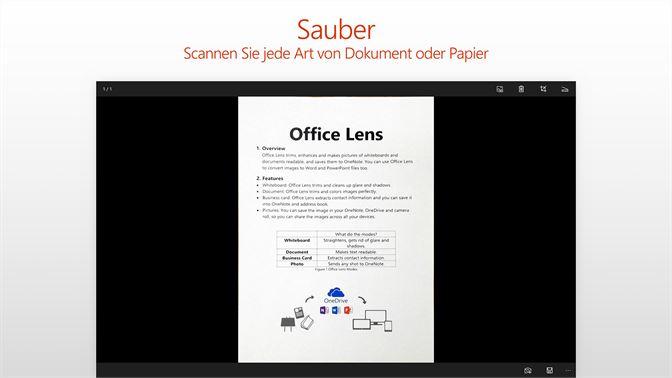 Office Lens Beziehen Microsoft Store De De