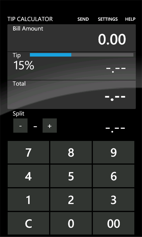 Tip Calculator Screenshots 1