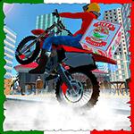 Pizza Delivery Moto Bike Rider