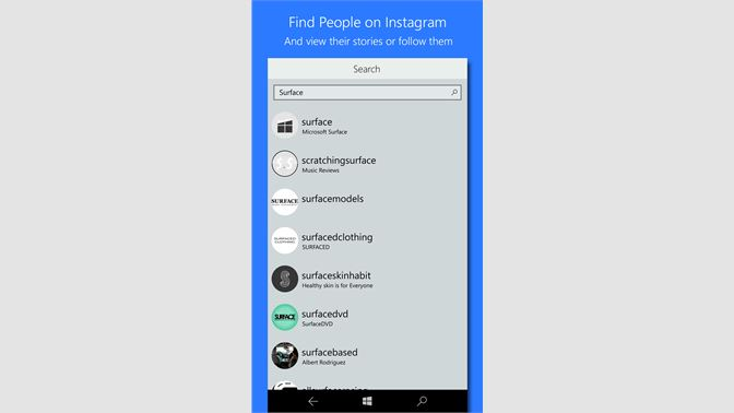 free download instagram for windows mobile