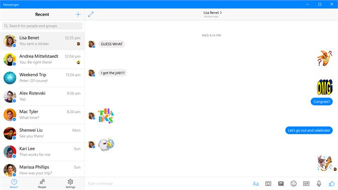 messenger pc mode