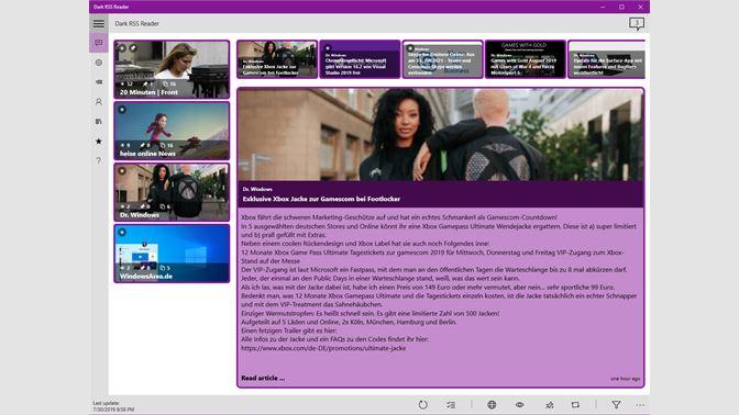Get Dark RSS Reader - Microsoft Store