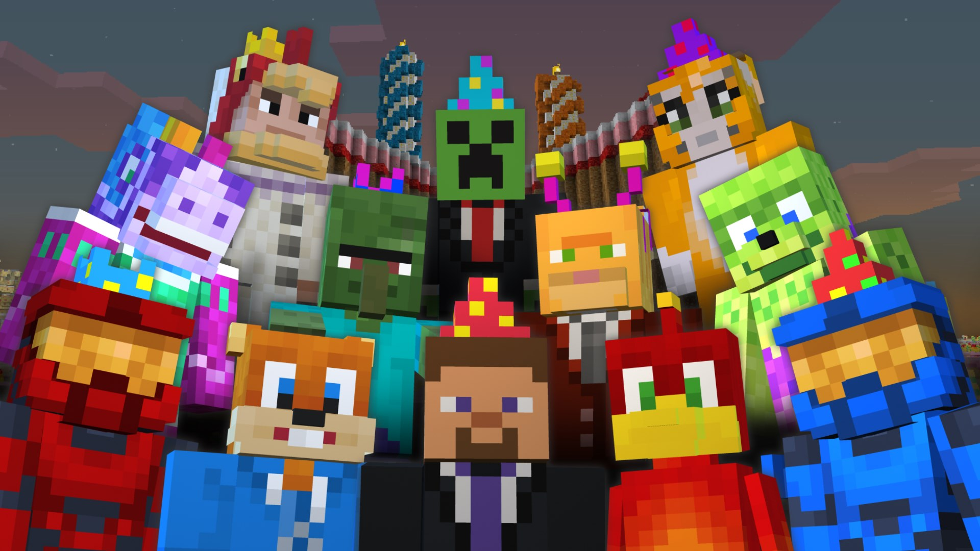 Minecraft 2nd Birthday Skin Pack