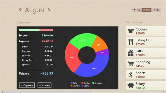 get spending tracker microsoft store