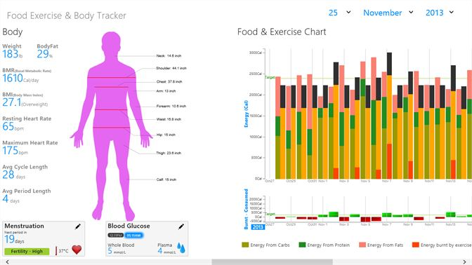 buy food exercise body tracker microsoft store