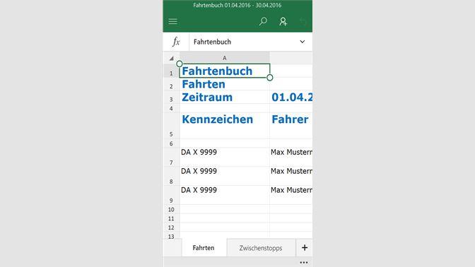screenshot exportmglichkeiten screenshot excelexport - Fahrtenbuch Muster