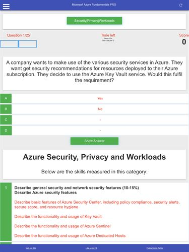 Azure Fundamentals AZ-900: Exam Prep Tests, Quizzes, Mock Exams, Cheat Sheets, FlashCards, FAQs Screenshot