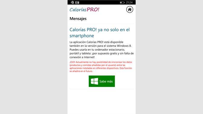 862629c099d8f Obtener Calorías PRO!  Microsoft Store es-AR