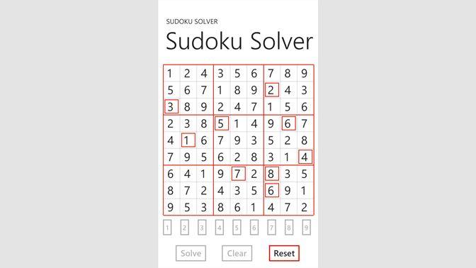 Get Sudoku Solver - Free - Microsoft Store