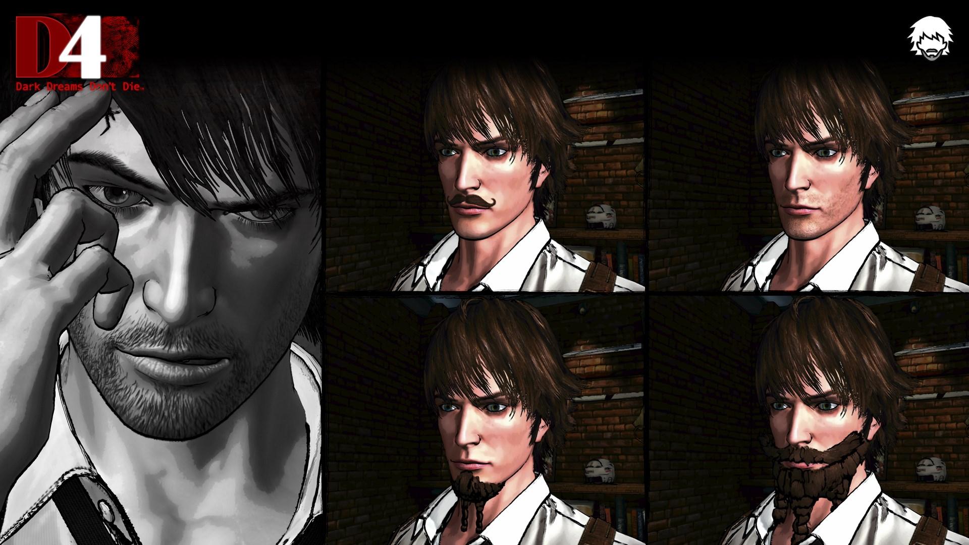 D4: Dark Dreams Don't Die - Beard Set 4