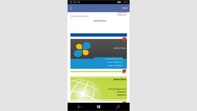 Get business cards info app microsoft store screenshot business card template colourmoves