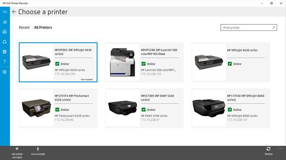 HP's All-in-One Printer Remote app now a Universal Windows ...