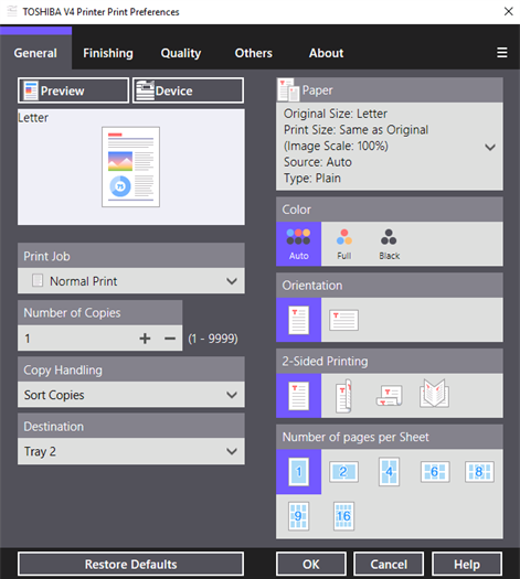 Toshiba Print Experience For Windows 10 Free Download On