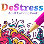 Relaxing Coloring Book - Color in Faces, Birds, Food, Pets & More For Stress Reduction