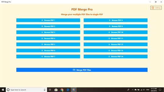 PDF Merge Pro screenshot 1
