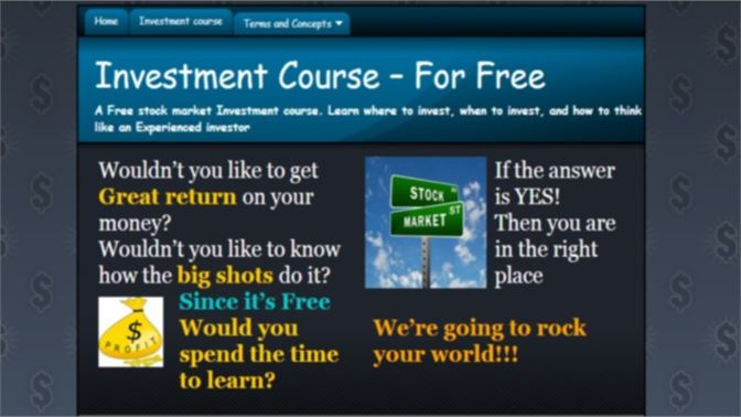 get stocks investment course microsoft store