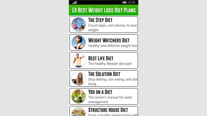Get 10 Best Weight Loss Diet Plans Microsoft Store