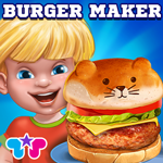 Burger Crazy Chef- Make Your Own Funny Hamburger- Dash to Cook The Best Burger In the Kitchen & Restaurant!