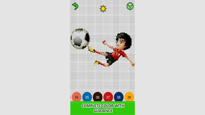 Get Football Logo Color By Number Pixel Art Sandbox