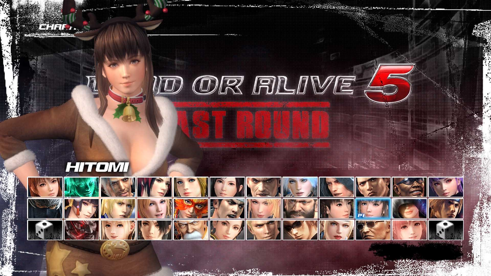 DEAD OR ALIVE 5 Last Round Hitomi Christmas Costume
